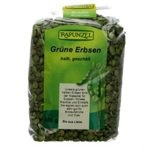 Erbsen, grün, halb, geschält
