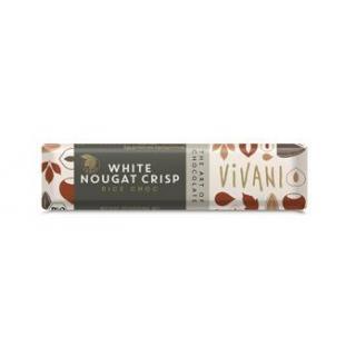 Riegel White Nougat Crisp m.Reisdrink